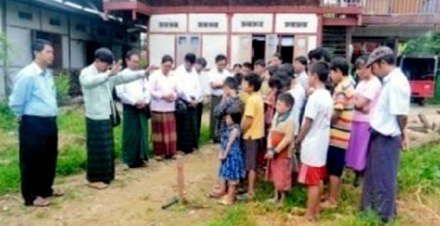 カチン子ども村ホーム建設がスタート