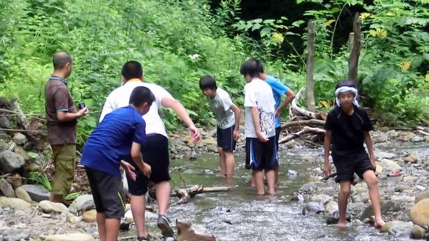 第6回小谷村ワークキャンプ 川遊び