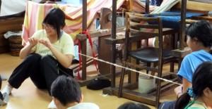 第7回小谷村 綿糸紡ぎを体験