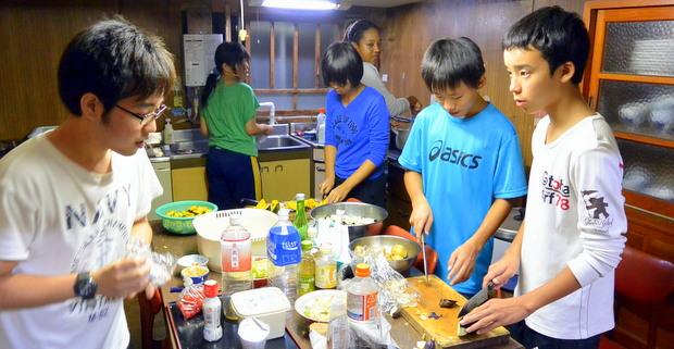 第7回小谷村 食事の準備(2)