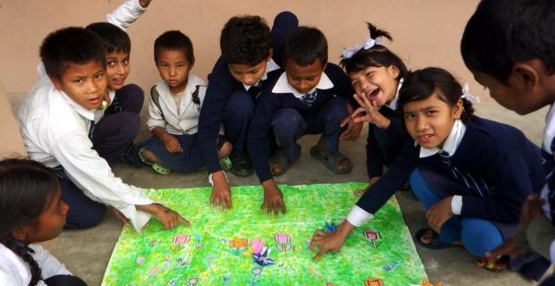 ラーズラトナ小学校での授業