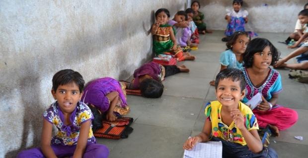 支援している子どもたち(インド)