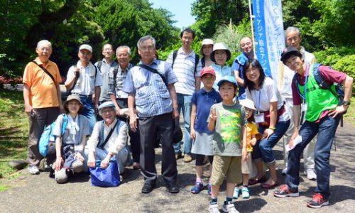 小石川植物園で記念撮影