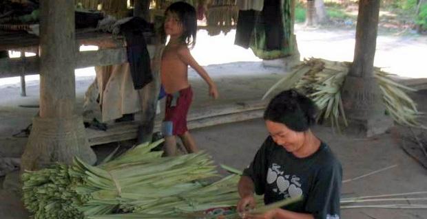 カンボジア・タケオ州の家庭