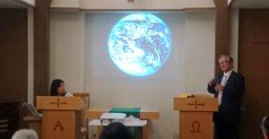 村上局長の講演「地球のスライド」