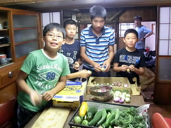 小谷村 夕食の準備