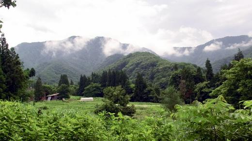 小谷村 真木の集落