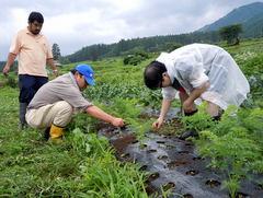 第6回小谷村 ニンジンの種まき