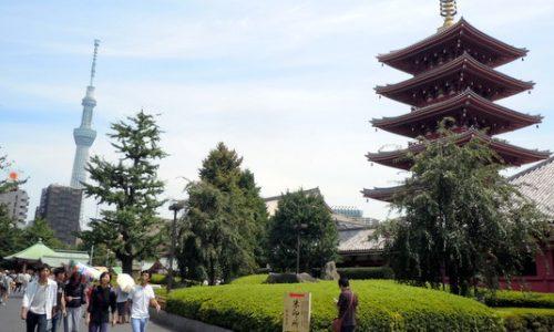 浅草寺と東京スカイツリー