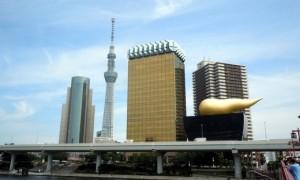 吾妻橋から見る東京スカイツリー