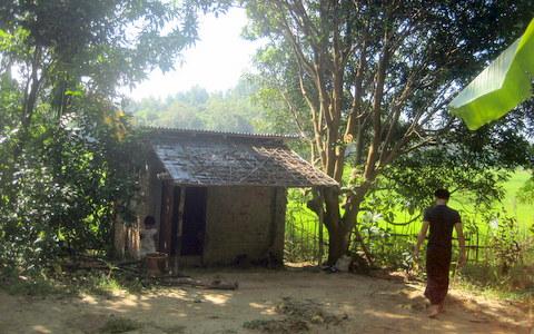 第二井戸に完成した井戸小屋
