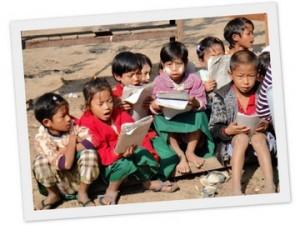 カチン州の子どもたち