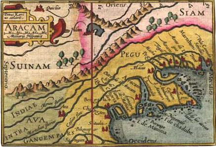 Acient Arakan Map