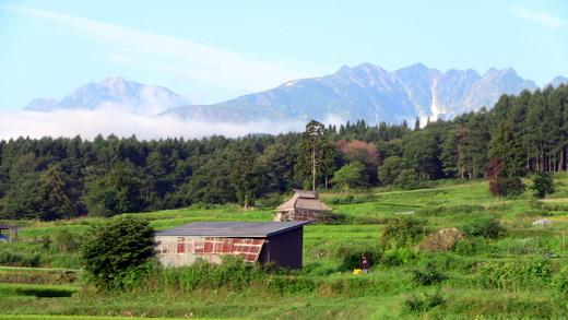 小谷村の風景