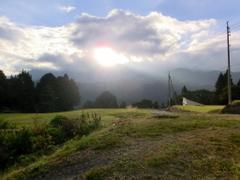 第5回小谷村ワークキャンプ 朝日が照らす小谷村
