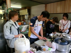 小谷村食事の準備