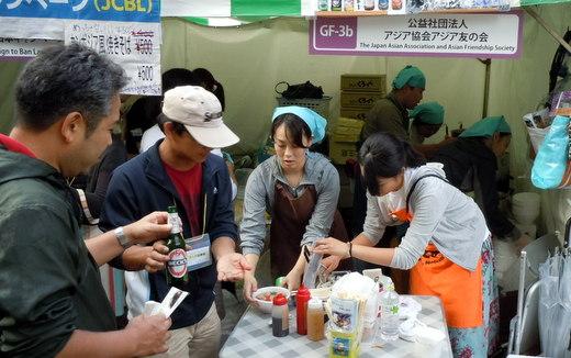 グローバルフェスタJAPAN2012 飲食ブース