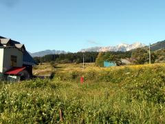 白馬連峰を彼方に望む小谷村