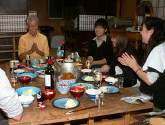 第3回小谷村ワークキャンプ 夕食風景